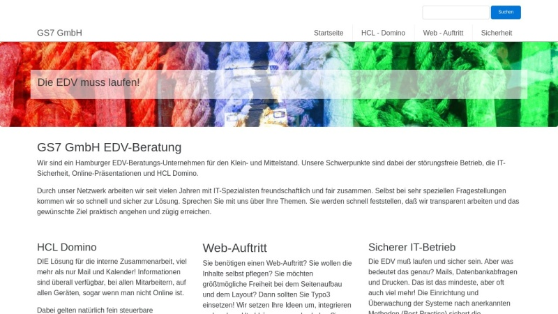 www.gs7.de Vorschau, GS7 GmbH