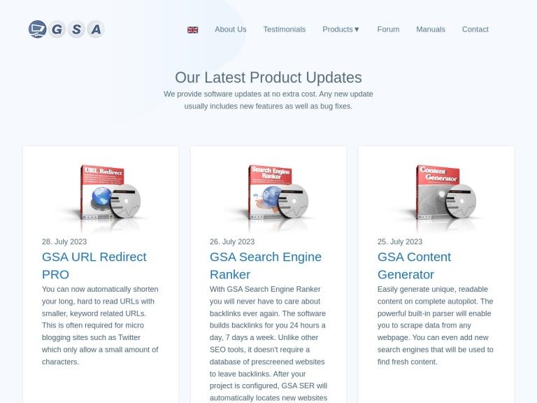 GSA GmbH screenshot