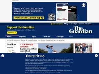 Screenshot do site guardian.co.uk