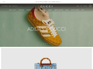 Screenshot for gucci.com