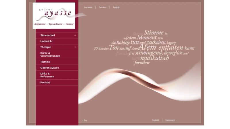 www.gudrun-ayasse.de Vorschau, Ayasse, Gudrun - Praxis für Stimme