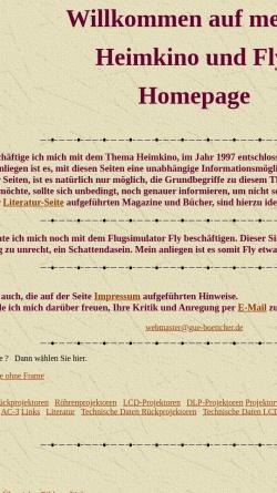 Vorschau der mobilen Webseite www.gue-boettcher.de, GB Heimkino