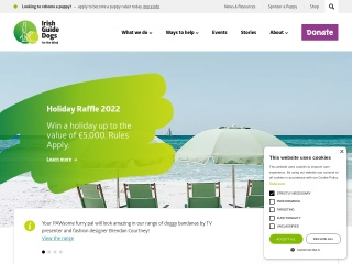 Screenshot for guidedogs.ie