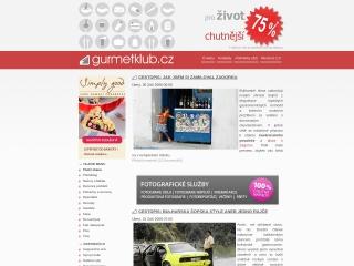 Snímek stránek pro gurmetklub.cz