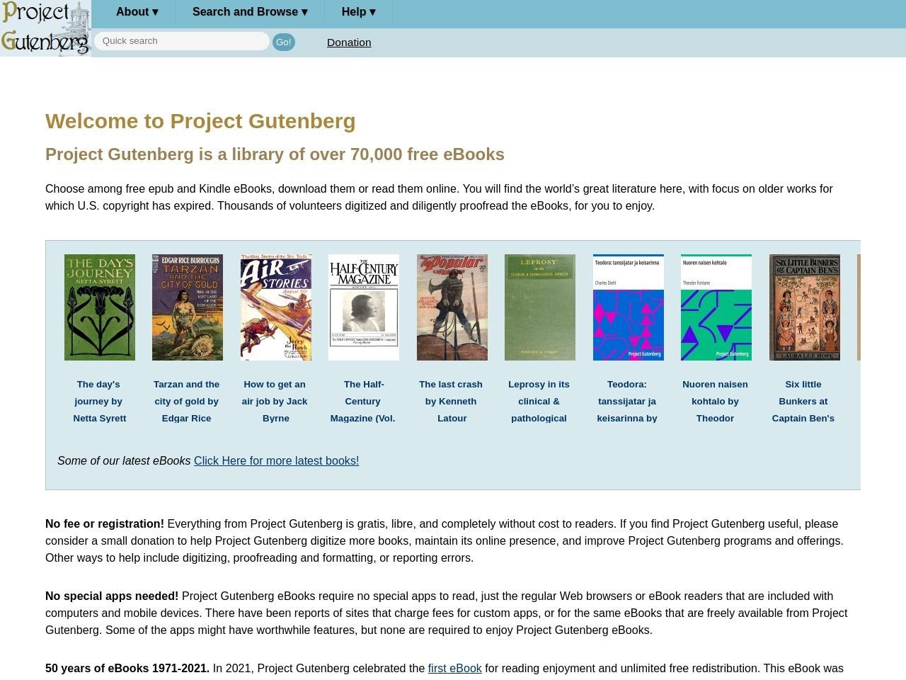 Project Gutenberg Project Gutenberg