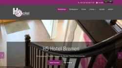 www.h5hotel.de Vorschau, H5 Hotel Bremen