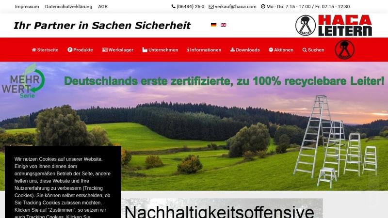 www.haca.com Vorschau, HACA - Leitern