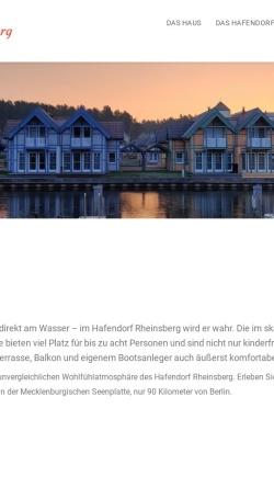Vorschau der mobilen Webseite www.hafendorf.com, Urlaub im Hafendorf Rheinsberg