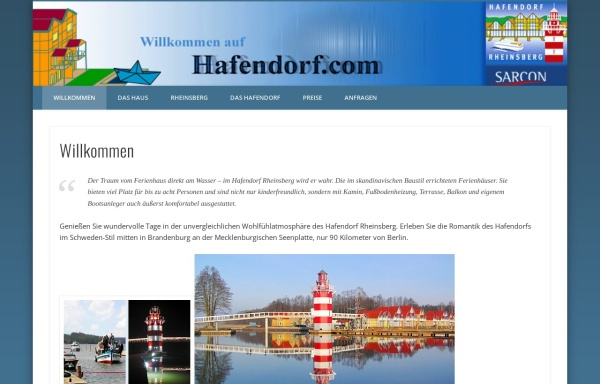 Vorschau von www.hafendorf.com, Urlaub im Hafendorf Rheinsberg