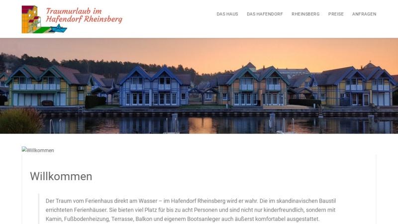 www.hafendorf.com Vorschau, Urlaub im Hafendorf Rheinsberg