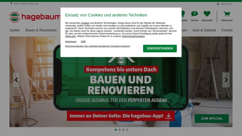 www.hagebau.de Vorschau, Hagebau, Handelsgesellschaft für Baustoffe mbH & Co. KG