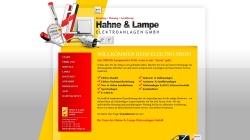 www.hahne-lampe.de Vorschau, Hahne & Lampe Elektroanlagen GmbH
