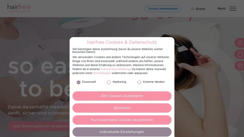 www.hairfree.com Vorschau, hairfree GmbH