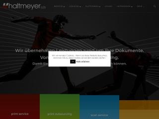 Screenshot der Website haltmeyer.at