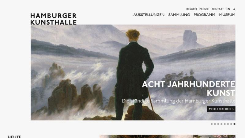 www.hamburger-kunsthalle.de Vorschau, Hamburger Kunsthalle