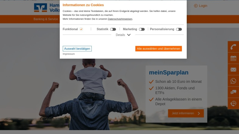 www.hamburger-volksbank.de Vorschau, Hamburger Volksbank eG
