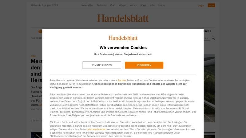 www.handelsblatt.com Vorschau, handelsblatt.com