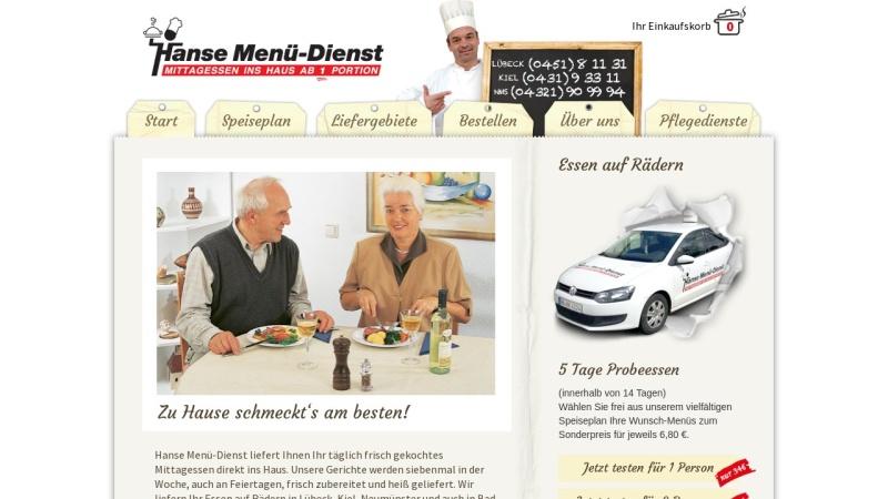 www.hanse-md.de Vorschau, Hanse Menü-Dienst und Senioren-Verpflegung Lübeck GmbH