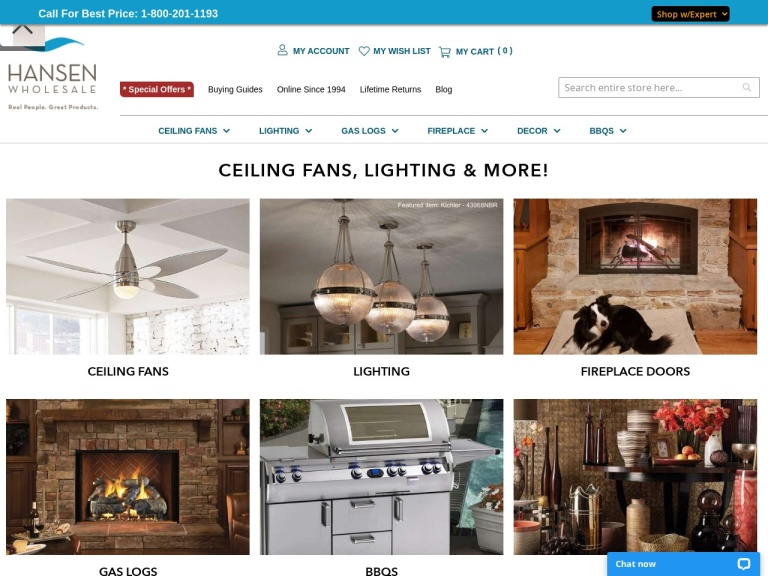 Hansen Wholesale-15% Off Select Craftmade Ceiling Fans