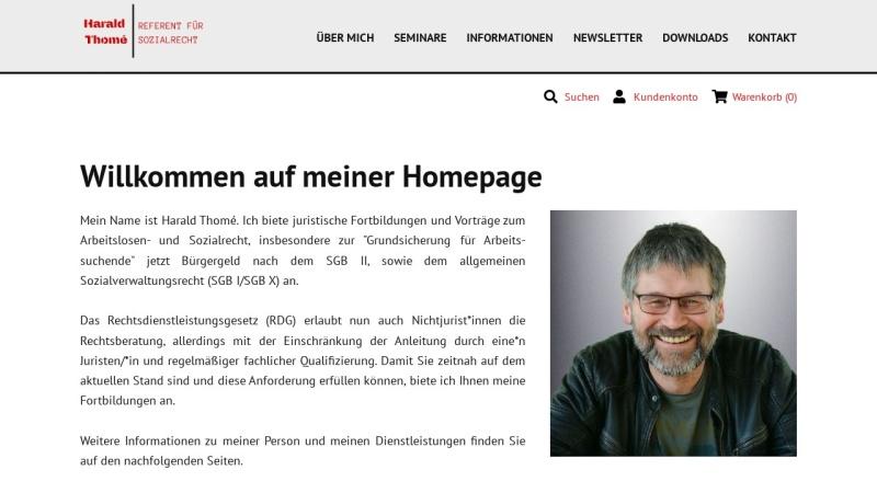 www.harald-thome.de Vorschau, Harald Thomé