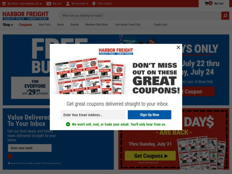 Harbor Freight Tools screenshot