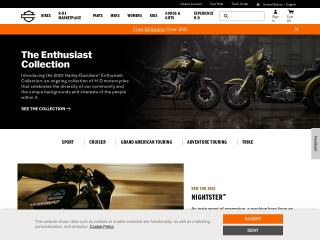 Screenshot for harley-davidson.com