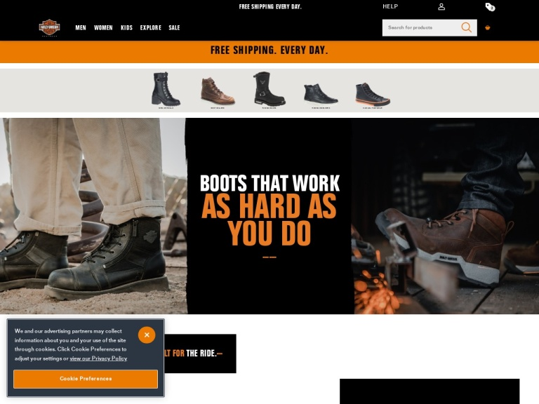 Harley Davidson Footwear-20% Off Full Price Styles with Code RIDEWITHPRIDE. Valid 5/25 – 5/28. Free Shipping and Returns!