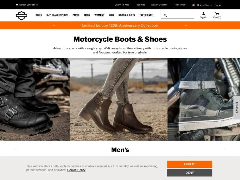 Harley Davidson Footwear-Free Shipping On Orders From Harley-Davidson® Footwear – Shop Now!