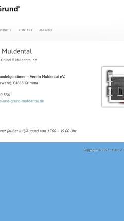 Vorschau der mobilen Webseite www.haus-und-grund-muldental.de, Haus-, Wohnungs- und Grundeigentümerverein Muldentalkreis e.V.