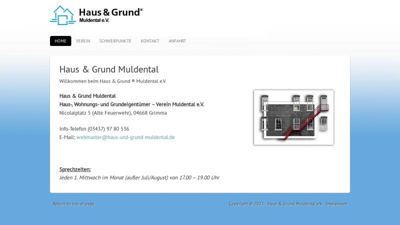 www.haus-und-grund-muldental.de Vorschau, Haus-, Wohnungs- und Grundeigentümerverein Muldentalkreis e.V.
