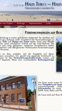 Vorschau der mobilen Webseite www.hausthilo.de, Haus Thilo und Haus Staiger-van Dyken