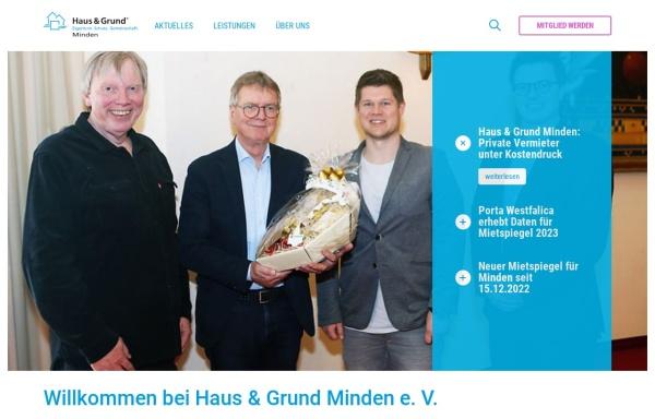 Vorschau von www.hausundgrund-mi.de, Haus und Grund Minden e.V.