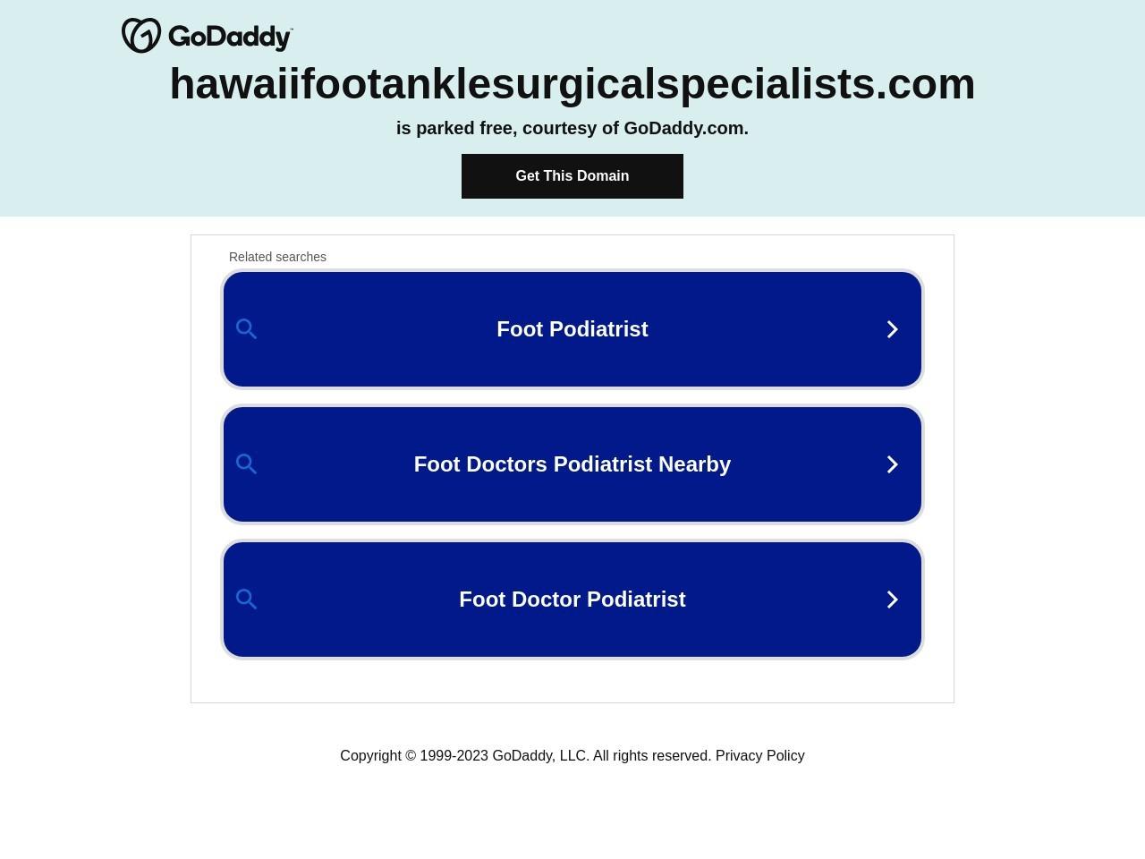 www.hawaiifootanklesurgicalspecialists.com screenshot