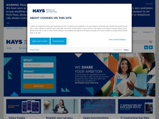 Screenshot for hays.ae