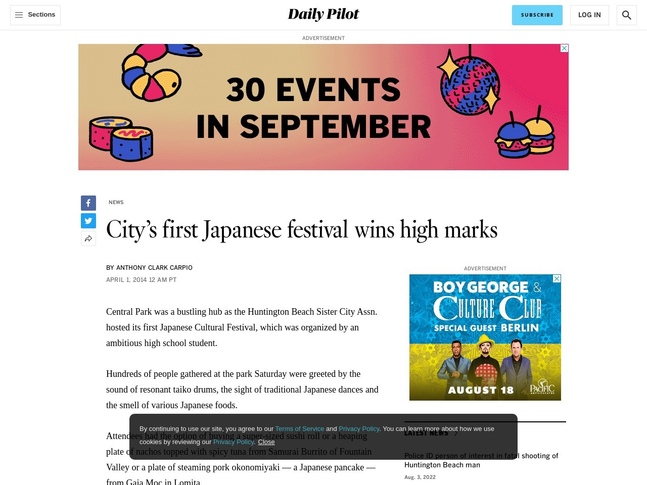 City's first Japanese festival wins high marks