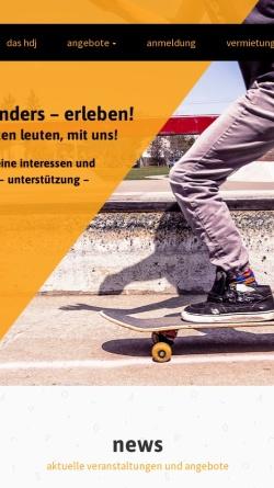 Vorschau der mobilen Webseite www.hdj-konz.de, Haus der Jugend Konz e.V.