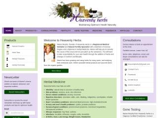 Screenshot for heavenlyherbs.co.nz