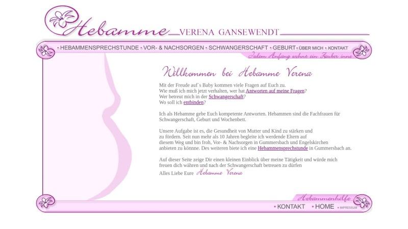 www.hebamme-oberberg.de Vorschau, Wichterich, Verena