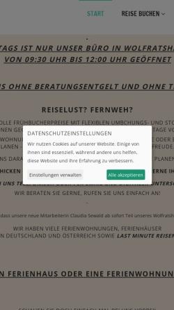 Vorschau der mobilen Webseite www.hecher-reisen.de, Reisebüro Hecher