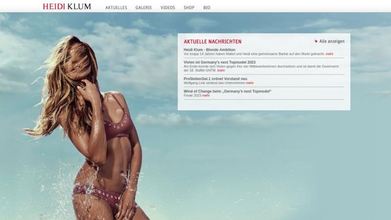 www.heidiklum.com Vorschau, Heidi Klum