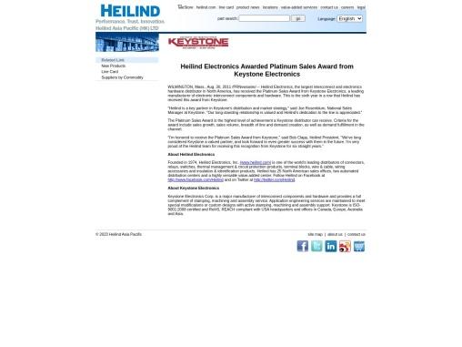 Keystone Distributor – Heilind Electronics, Inc