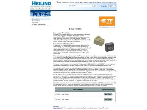 TE relays – Tyco Electronics  Supplier