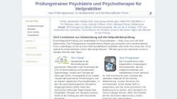 www.heilpraktiker-pruefungstrainer.de Vorschau, Prüfungstrainer Psychiatrie und Psychotherapie für Heilpraktiker