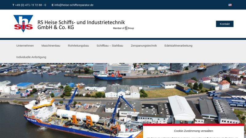 www.heise-schiffsreparatur.de Vorschau, Heise Schiffsreparatur & Industrie Service GmbH