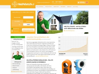 Screenshot der Website heizpellets24.at
