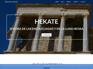 Captura de pantalla para hekate.es