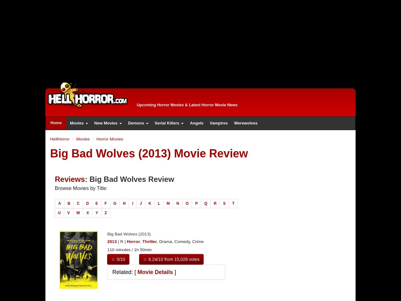 Big Bad Wolves (2013) Review | Horror Movie – Hell Horror