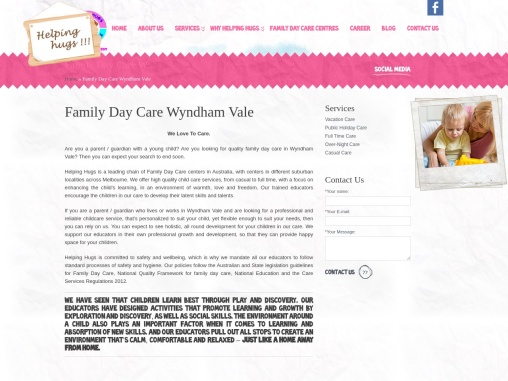 Family Day Care in Wyndham Vale – Helping Hugs