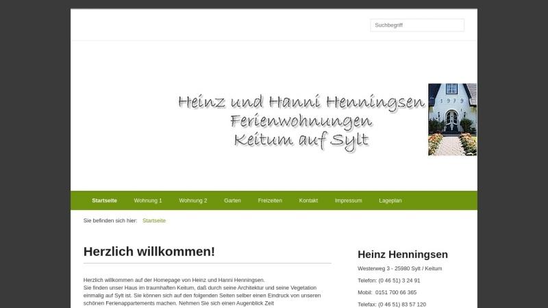 www.henningsen-ferienwohnungen-sylt.de Vorschau, H. & H. Henningsen