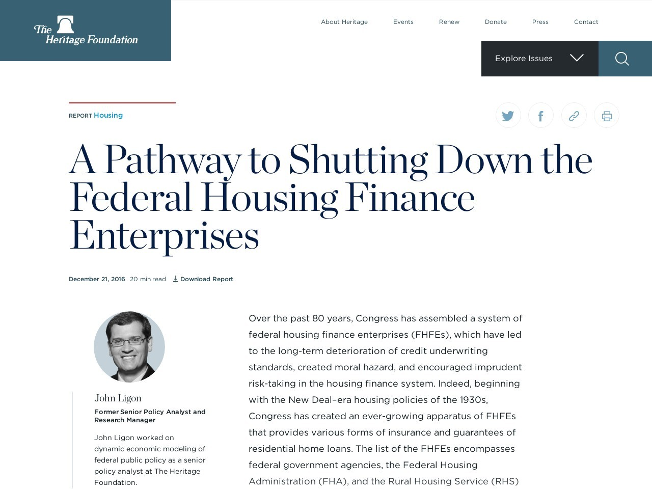 A Pathway to Shutting Down the Federal Housing Finance Enterprises